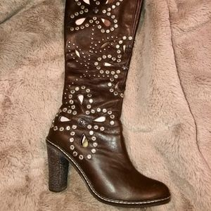 "👢N.A.L.A ""Tiara"" Studded Leather Boots"